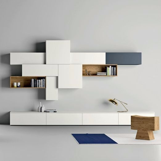 Modern designer TV unit for elegant living room interior
