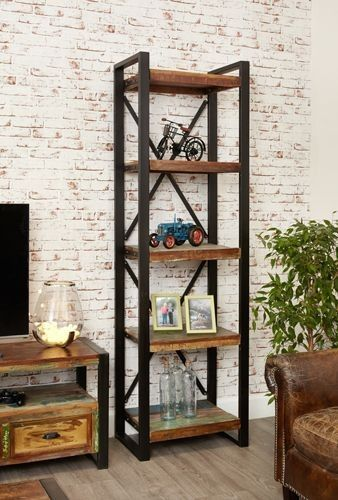 Tall Bookcase - Unique Reclaimed Timber Furniture